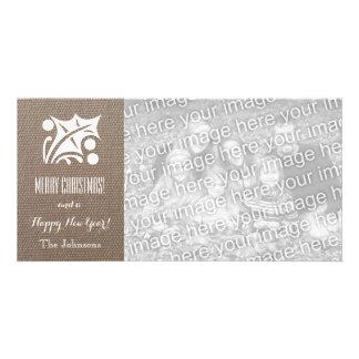 Leinwand-Weihnachtskarten mit kundenspezifischem Photo Karten