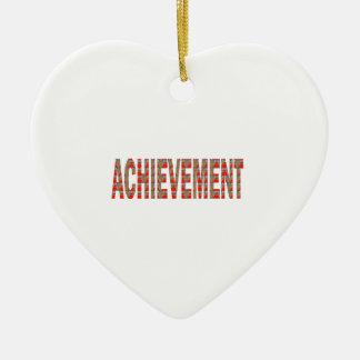 LEISTUNG Erfolgs-Motivations-Bemühungs-Inspiration Keramik Herz-Ornament