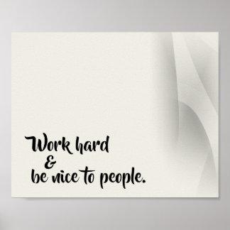 Leitende Wort-Büro-Plakat-Druck Poster