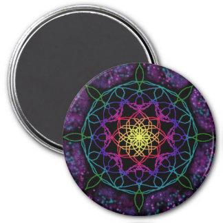 Leitender Stern-Mandala-runder Magnet