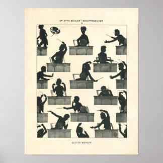 Leiter der klassischen Musik - Vintager Mahler Poster