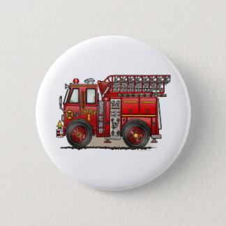 Leiter-Feuer-LKW-Knopf-Button Runder Button 5,7 Cm
