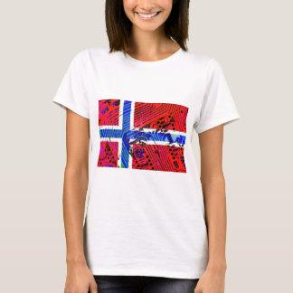 Leiterplatte Norwegen (Flagge) T-Shirt