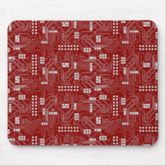 Leiterplatte-Rot mousepad