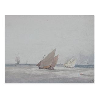 Leith Straßen mit Verschiffen, 19. Jahrhundert Postkarte
