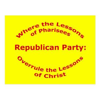 Lektionen von Christus Postkarte