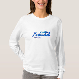 Leland, Michigan - Damen OM Hoody lange Hülse