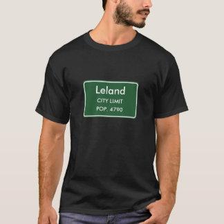 Leland, Mitgliedstaat-Stadt-Grenze-Zeichen T-Shirt