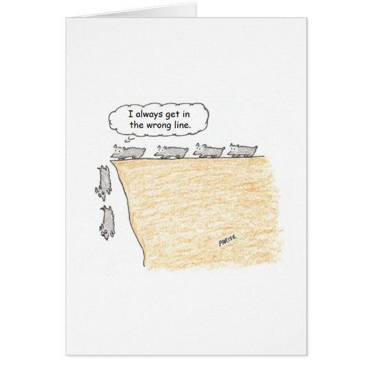 Lemming-Cartoon-Geburtstags-Karte Karte