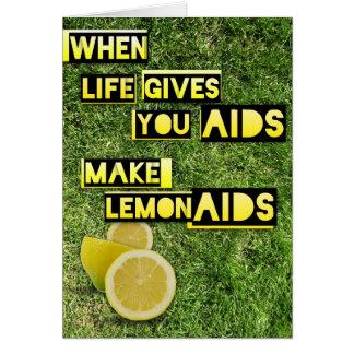 LemonAIDS Grußkarte