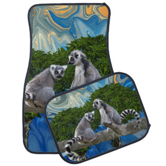 Lémur-ick espiègle tapis de voiture
