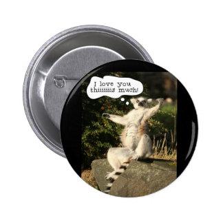 Lemur-Liebe Sie dieser viel lustige Vatertag Runder Button 5,7 Cm