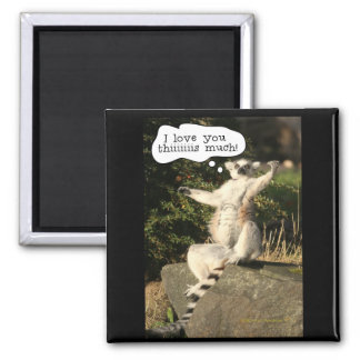 Lemur-Liebe Sie dieser viel lustige Vatertag Quadratischer Magnet