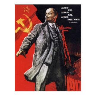 Lenin - russischer Kommunist Postkarte