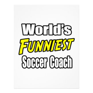 L'entraîneur du football le plus drôle du monde prospectus avec motif
