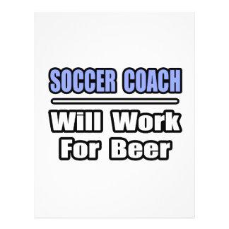 L'entraîneur du football… travaillera pour la bièr prospectus en couleur