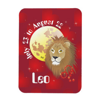Leo July 23 to August 22 Premium Flexi Magnet