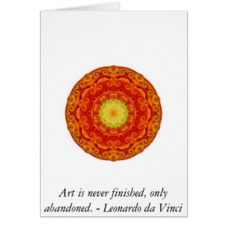 Leonardo da Vinci-Kunstzitat Karte