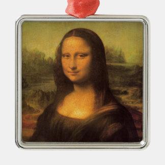 Leonardo Da Vinci Mona Lisa Silbernes Ornament
