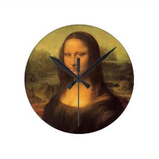 Leonardo da Vincis Mona Lisa Runde Wanduhr