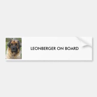 Leonberger Hundkundenspezifischer AUTOAUFKLEBER, G Autoaufkleber