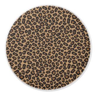 Leopard Brown und schwarzes Muster Keramikknauf