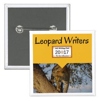 Leopard-Buttone! Quadratischer Button 5,1 Cm