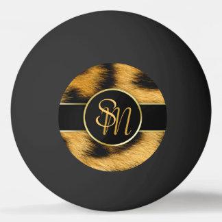 Leopard-Druck-edle Goldinitialen - Klingeln Pong Ping-Pong Ball