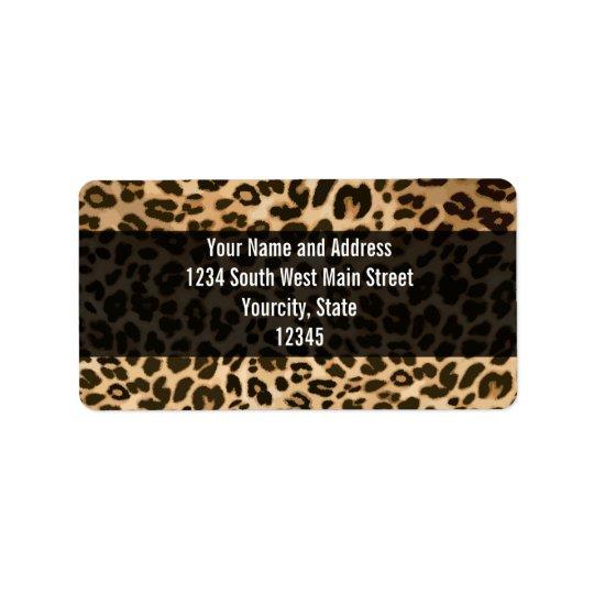 Leopard-Druck-Hintergrund Adress Aufkleber