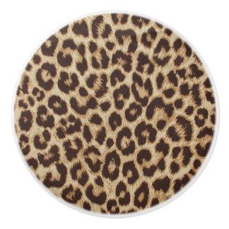 Leopard-Druck-Keramik-Griff Keramikknauf