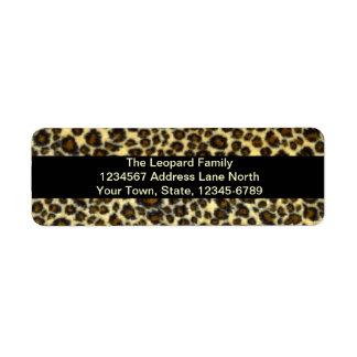 Leopard-Druck-kundengerechter Rücksende Aufkleber