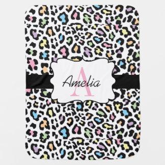 Leopard-Druck-multi Farben Swaddle Decke