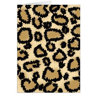 Leopard-Druck-Muster, Brown und Schwarzes Karte