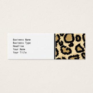 Leopard-Druck-Muster, Brown und Schwarzes Mini Visitenkarte