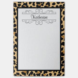 Leopard-Druck-personalisierte Post-it Klebezettel