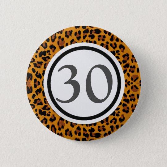 Leopard-Druck Runder Button 5,1 Cm