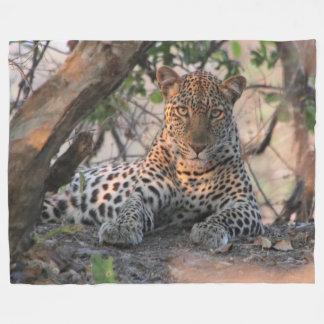 Leopard-Fleece-Decke Fleecedecke