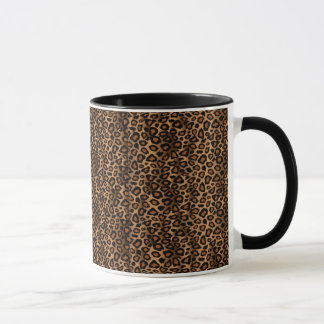 Leopard-Haut-Tierdruck-Muster Tasse