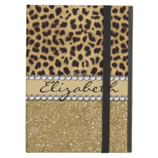 Leopard-Kassagold-GlitterRhinestone FOTO-DRUCK