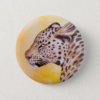 Leopard-Kunst Runder Button 5,7 Cm