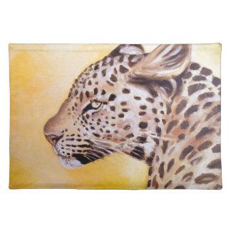 Leopard-Kunst Stofftischset