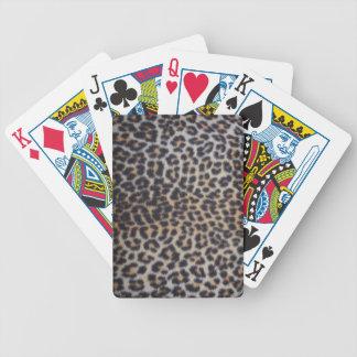Leopard-Pelz Bicycle Spielkarten