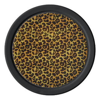 Leopard-Pelz-Druck-Tier-Muster Pokerchips