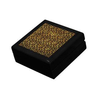 Leopard-Pelz-Druck-Tier-Muster Schmuckschachtel