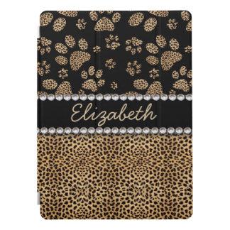 Leopard-Stellen-Tatze druckt Rhinestone-Diamanten iPad Pro Hülle
