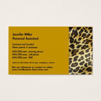 Leopard-Tier-Druck Visitenkarte