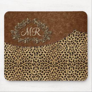 Leopard und Wirbel Mauspad