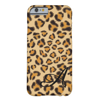 Leopardmuster - mit Monogramm Barely There iPhone 6 Hülle