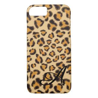 Leopardmuster - mit Monogramm iPhone 8/7 Hülle