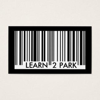 lernen Sie, Barcode zu parken Visitenkarte